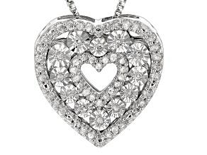 Diamond Silver Pendant .21ctw