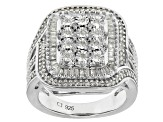Rhodium Over Sterling Silver Diamond Ring .50ctw