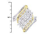 Diamond Rhodium And 14k Yellow Gold Over Sterling Silver Ring .33ctw