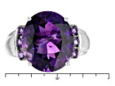 Purple Amethyst 10k White Gold Ring 5.87ctw
