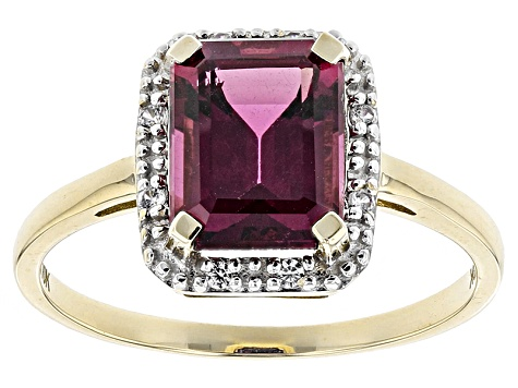 Grape Color Garnet 10k Yellow Gold Ring 2.31ctw