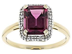 Grape Color Garnet 10k Gold Ring 2.31ctw