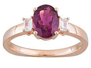 Pink Rubellite 10k Rose Gold Ring 1.14ctw