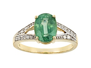 Green Kyanite 10k Yellow Gold Ring 2.12ctw
