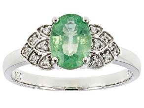 Mint Kyanite Rhodium Over 10k White Gold Ring 1.39ctw