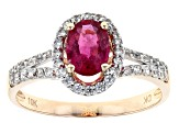 Pink Rubellite 10k Rose Gold Ring 1.06ctw