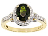 Green Chrome Diopside 10k Yellow Gold Ring 1.27ctw