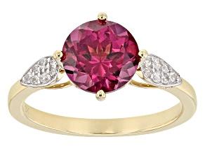 Grape Color Garnet 10k Yellow Gold Ring 1.92ctw