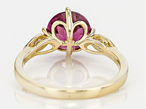 Grape Color Garnet 10k Yellow Gold Ring 1.92ctw