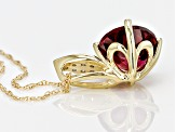 Grape Color Garnet 10k Yellow Gold Pendant With Chain 1.86ctw