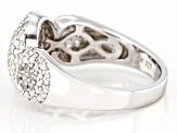 White Zircon  Rhodium Over Sterling Silver Ring 0.44ctw