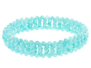 Green Amazonite Bead Stretch Bracelet