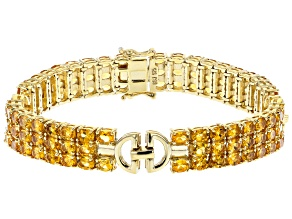 Yellow Citrine 18k Yellow Gold Over Sterling Silver Bracelet 13.05ctw