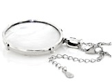 White Mother-Of-Pearl Rhodium Over Silver Pendant With Chain