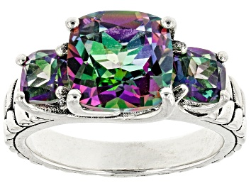 Picture of Mystic Fire(R) Green Topaz Sterling Silver Ring 4.23ctw