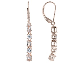 Pink Morganite 18k Rose Gold Over Sterling Silver Dangle Earrings 1.68ctw