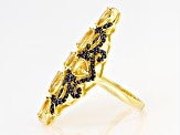 Golden Citrine 18k Yellow Gold Over Silver Ring 3.29ctw