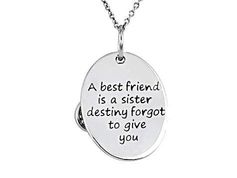 .10ctw White Diamond Sterling Silver infinity inspirational Pendant With Chain