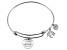 White Diamond Silver Tree Of Life inspirational Bracelet .10ctw