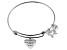 .10ctw White Diamond Sterling Silver Horse inspirational Expandable Bangle Bracelet