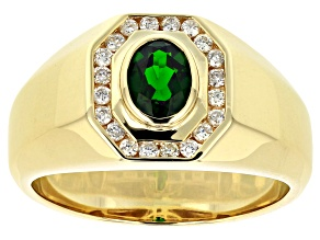 Green Russian Chrome Diopside Mens Ring .97ctw