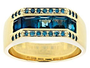 London Blue Topaz 10k Yellow Gold Ring 2.50ctw