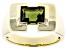 Green Moldavite 10k Yellow Gold Men's Ring 1.83ct