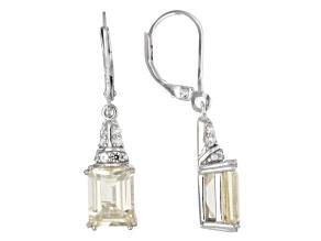 Yellow labradorite sterling silver earrings 3.94ctw