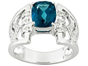 London Blue Topaz Sterling Silver Ring 2.24ctw