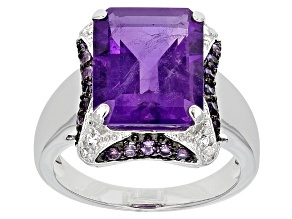 Purple Amethyst Sterling Silver Ring 5.60ctw