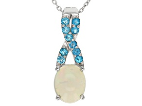 Ethiopian Opal Sterling Silver Pendant With Chain 1.79ctw