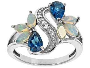 London Blue Topaz Sterling Silver Ring 1.43ctw