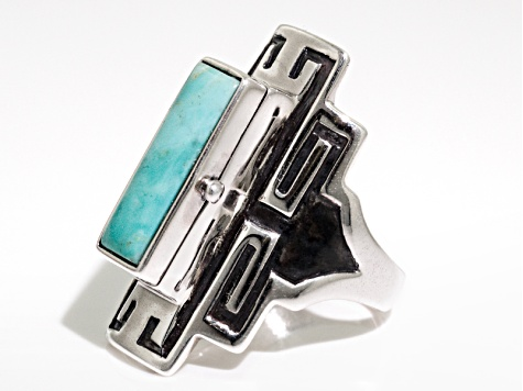 Alicia Turquoise Sterling Silver Message Box Ring