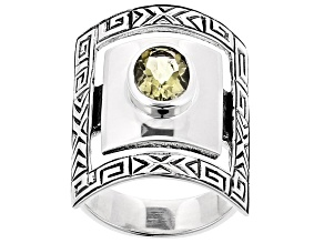 Canary Yellow Quartz Sterling Silver Ring 1.15ct