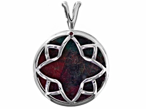 Red Sonora Sunrise Sterling Silver Pendant