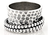 Hammered Spinner Sterling Silver Ring