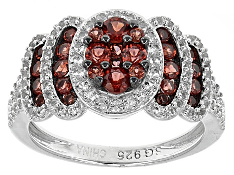 Red Garnet Sterling Silver Ring 1.46ctw.
