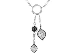 Black Spinel Matte Rhodium Over Silver With Black Rhodium