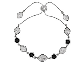 Black Spinel Rhodium Over Silver