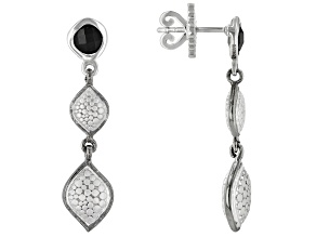Black Spinel Matte And Black Rhodium Over Silver