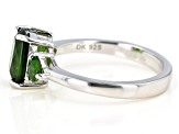 Green Chrome Diopside Rhodium Over Silver Ring 2.43ctw