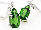 Green Chrome Diopside Rhodium Over Silver Earrings 1.72ctw