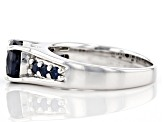Blue sapphire rhodium over sterling silver ring 1.59ctw