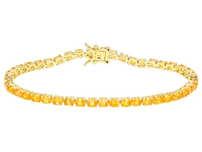 Orange Spessartite 18k Yellow Gold Over Silver Bracelet 8.04ctw
