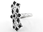 Black spinel rhodium over sterling silver ring .49ctw