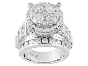 White Diamond 10k White Gold Ring 5.00ctw