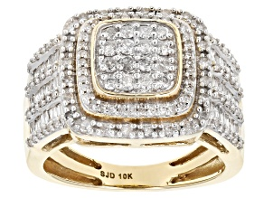 White Diamond Ring 10k Yellow Gold 1.00ctw.