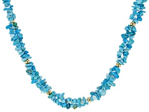 Blue Sleeping Beauty Turquoise Sterling Silver Necklace  3mm-8mm