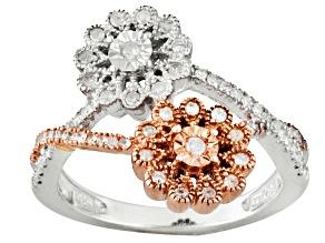 White Diamond Silver Two-Tone Ring .38ctw