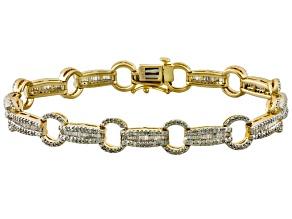 Diamond 14k Yellow Gold Over Sterling Silver Bracelet 2.00ctw